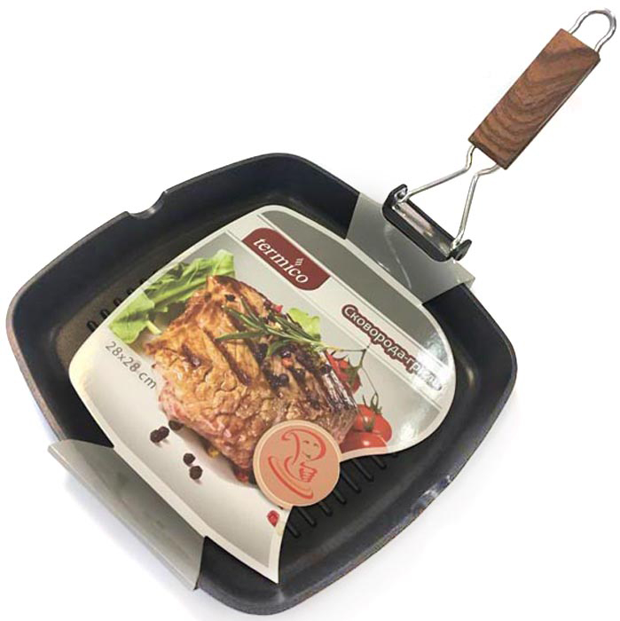 Сковорода-гриль 28x28х3.8 см