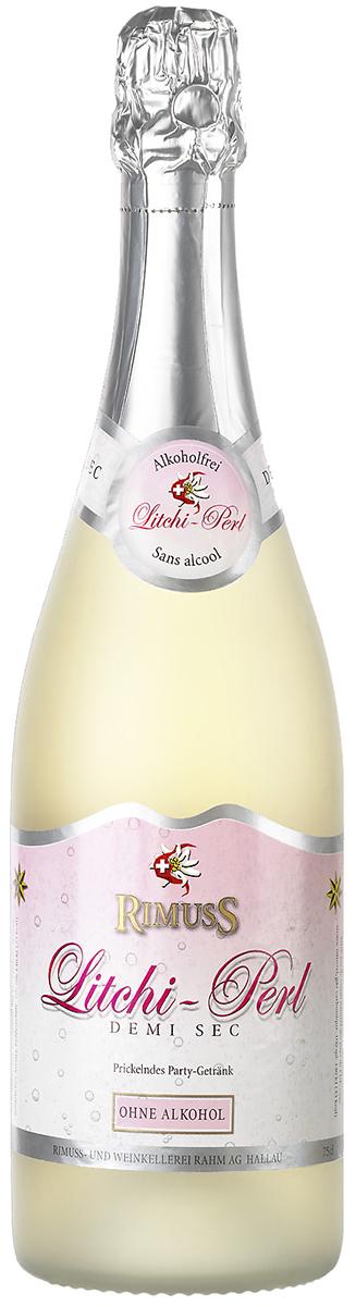 Rimuss Litchi Perl Шампанское полусухое безалкогольное, 0,75 л