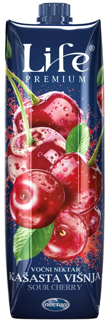 Life Premium Нектар вишневый, 1 л чай ассорти 15 плитка черного чая 1шт 99гр т сп 15
