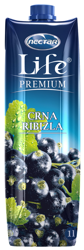 Life Premium Нектар из черной смородины, 1 л