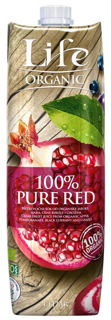 Life Pure red Сок мультифруктовый БИО, 1 л вода nestle вода pure life 2 л