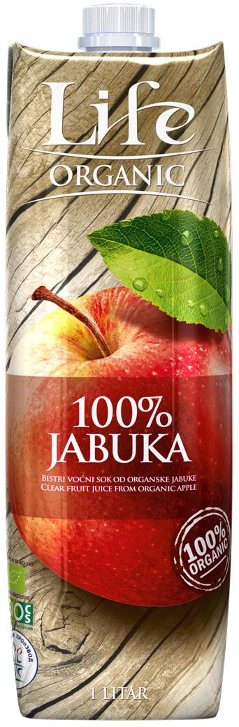 Life Сок яблочный БИО, 1 л сок granini яблочный 1л