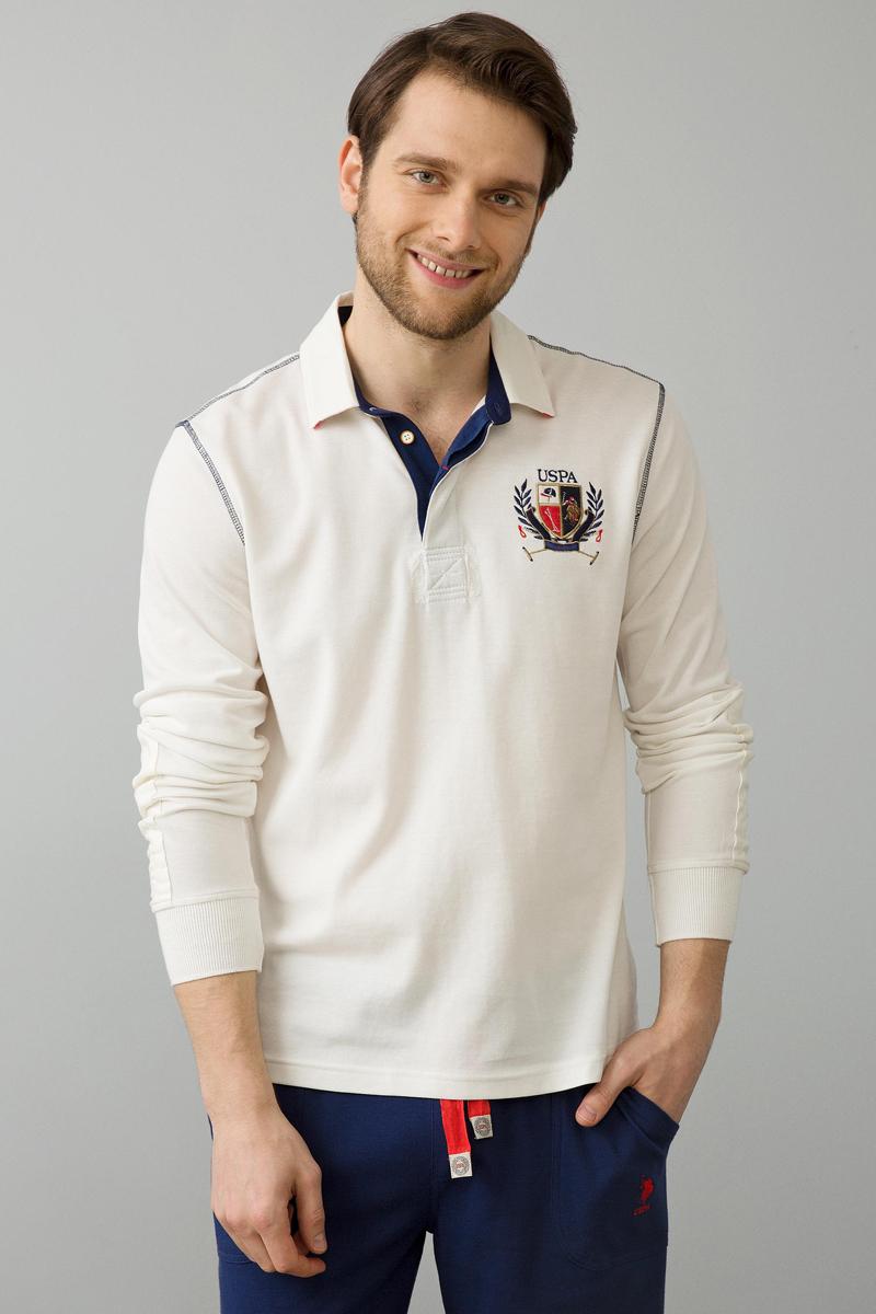 Поло мужское U.S. Polo Assn., цвет: белый. G081SZ0820GONGO_VR019. Размер XS (44) demix поло мужское demix