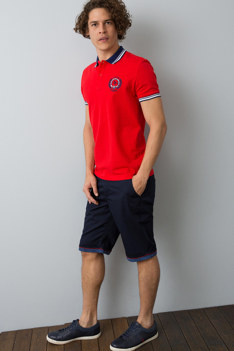 Купить Поло мужское U.S. Polo Assn., цвет: красный. G081GL0110ZAKINTOS_VR030. Размер L (50)