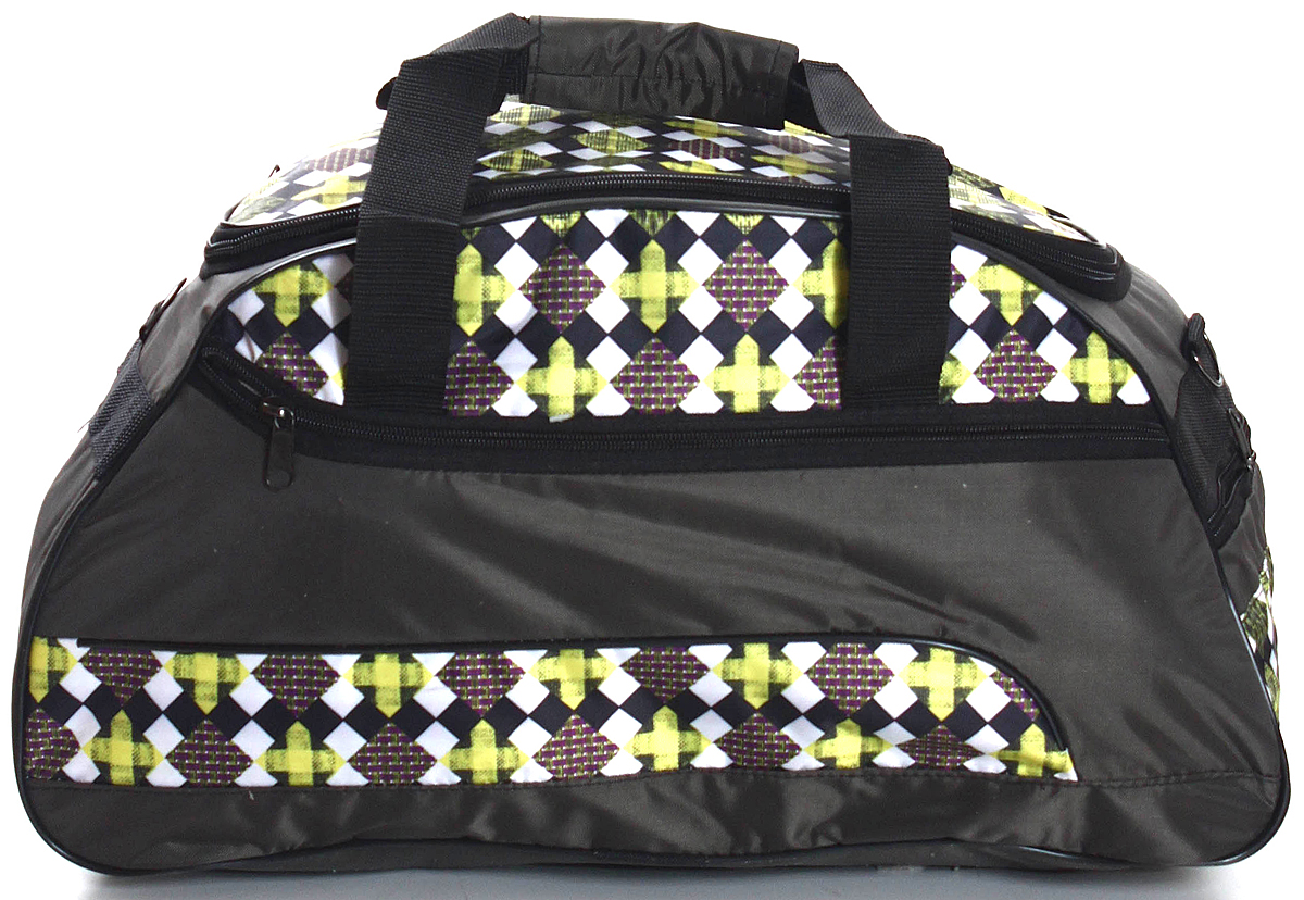 Сумка дорожно-спортивная Ibag, цвет: черный, желтый, 30 л