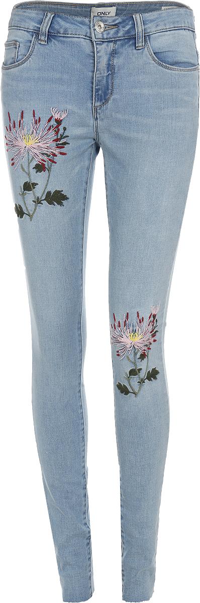 Джинсы женские Only, цвет: синий. 15150519_Medium Blue Denim. Размер 27-30 (44-30) джинсы женские lee цвет синий l305aifa размер 30 35 46 35