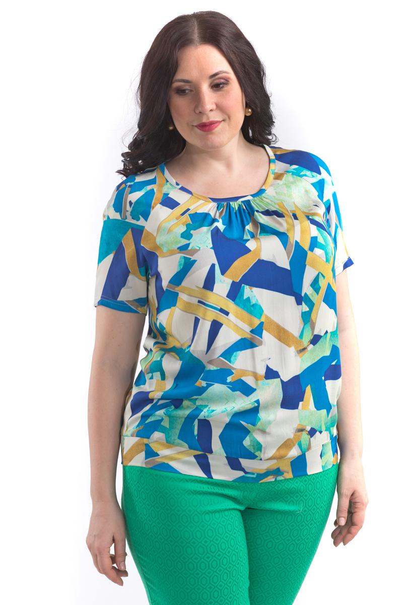 Блузка женская Averi, цвет: синий. 1403. Размер 64 (66) блузка женская averi цвет голубой 1440 размер 50 52