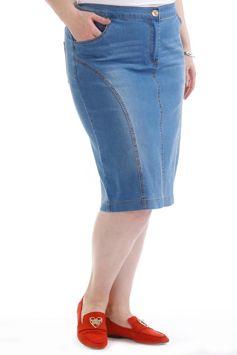 Юбка Averi, цвет: голубой. 1409. Размер 64 (68) блузка женская averi цвет голубой 1440 размер 50 52