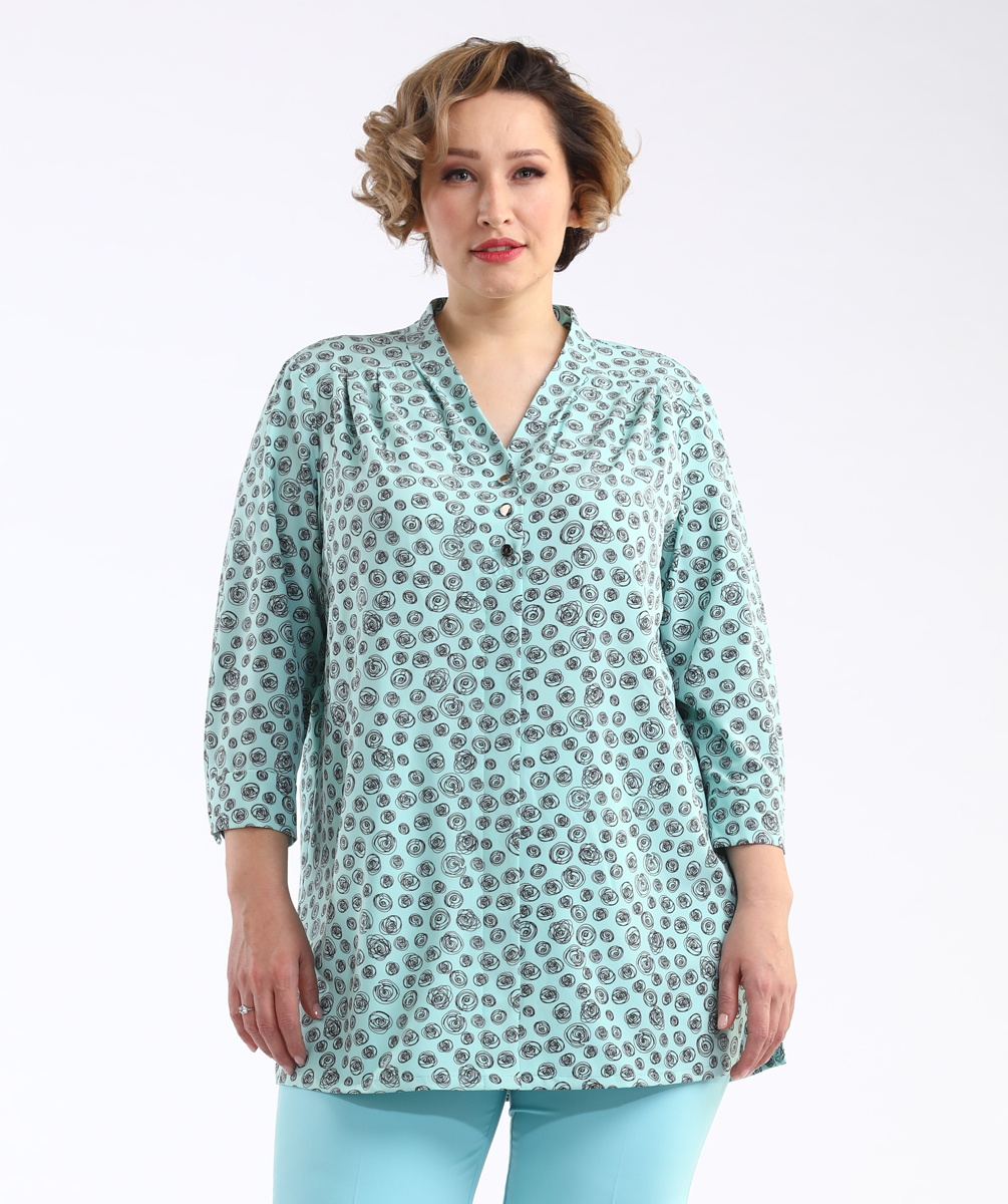 Блузка женская Averi, цвет: разноцветный. 1414. Размер 60 блузка женская averi цвет разноцветный 1457 размер 60 62