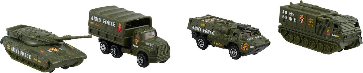 Pioneer Toys Набор машин Военная техника 4 шт pioneer toys набор машин фура