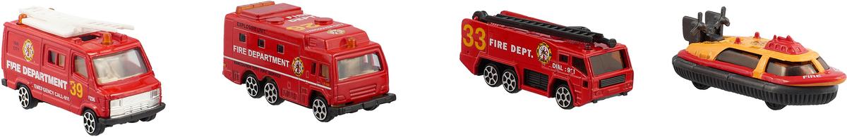 Pioneer Toys Набор машин Служба спасения 4 шт pioneer toys набор машин фура