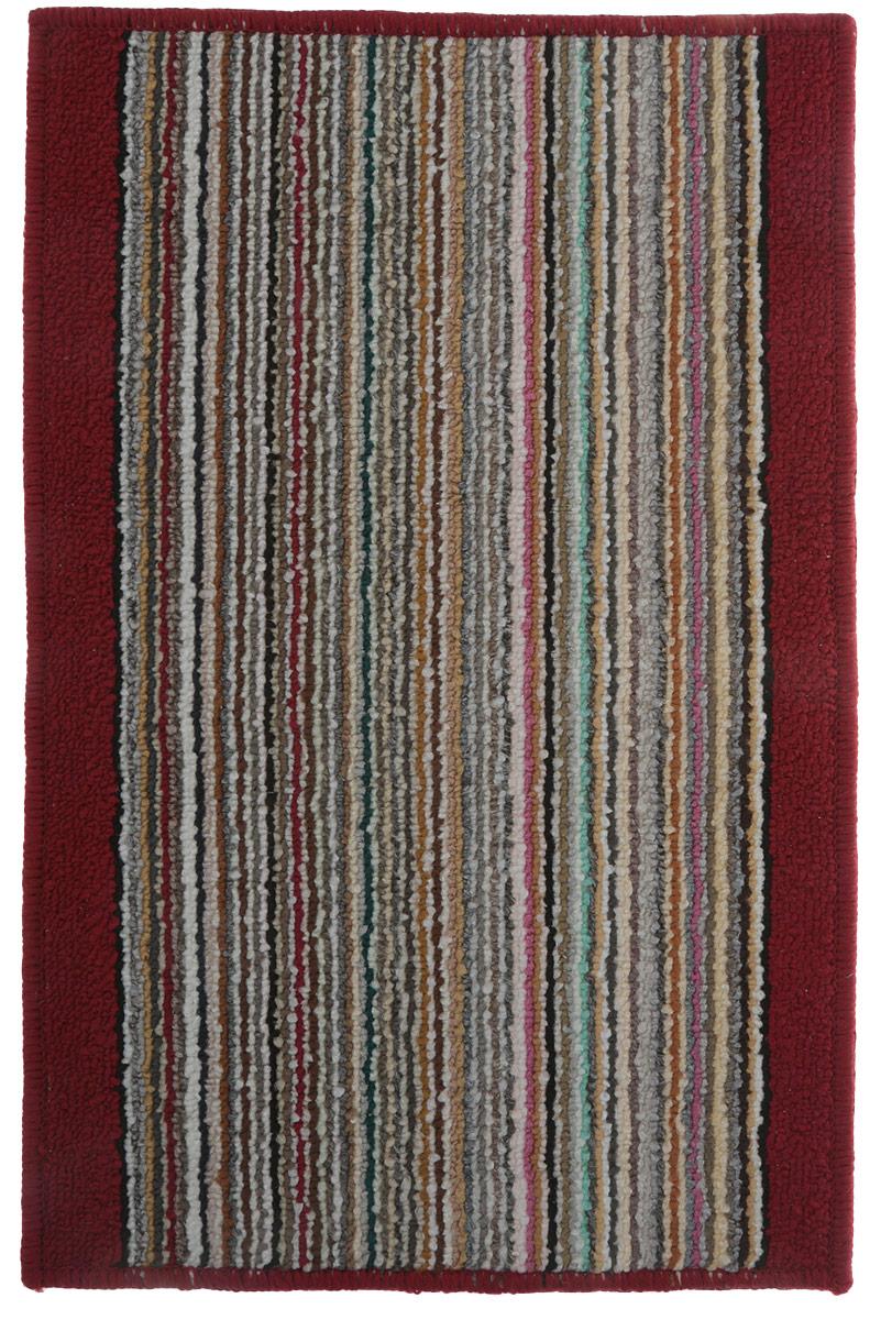 Коврик для ванной Vortex Baden, цвет: красный, 38 х 58 см. 21078