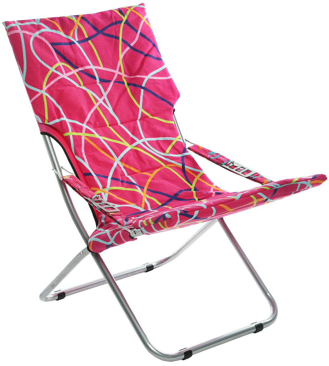 Кресло складное Wildman, цвет: розовый, желтый, синий, 73 х 60 х 100 см 1pc новые 7 секций приманка для рыбалки 10 см 3 94 0 43 унции 12 1 г приманка для рыбалки для рыбалки 6 черный крючок для рыбалки