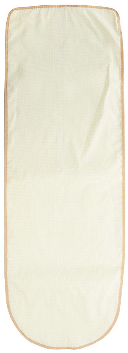 Чехол для гладильной доски Eva Горошек, цвет: белый, желтый юбка eva milano цвет черный белый