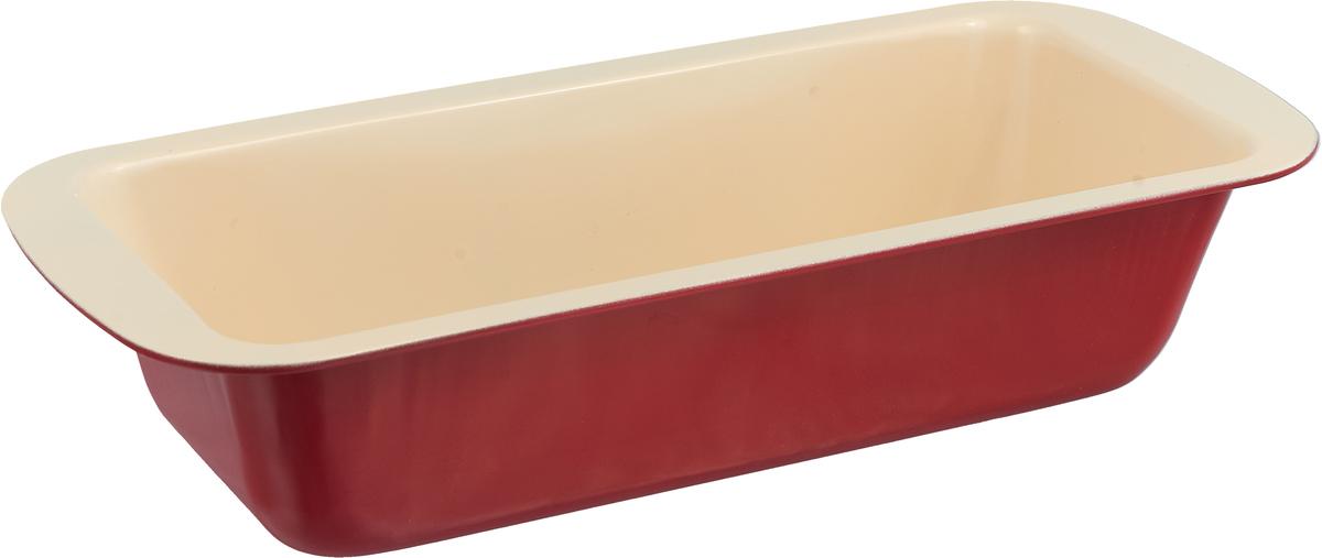"""Форма для выпечки Доляна """"Прямоугольник. Флери"""", с керамическим покрытием, цвет: бежевый, 30 х 13 х 6 см"""