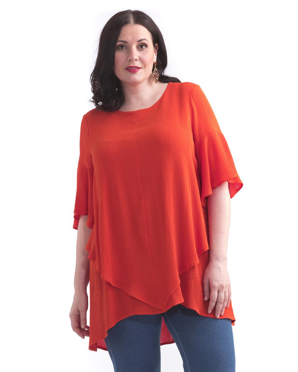 Туника женская Averi, цвет: оранжевый. 1437. Размер 64 (68) туника averi averi mp002xw13twi