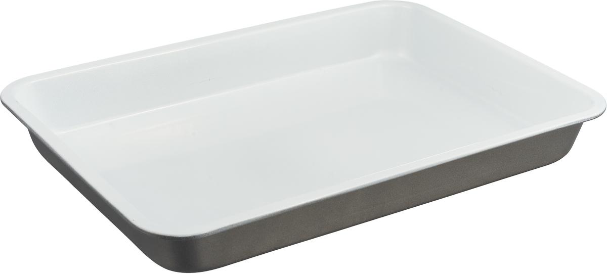 Форма для выпечки Доляна Прямоугольник. Флери, с керамическим покрытием, цвет: бежевый, 35 х 25 х 4 см1151884_бежевыйФорма для выпечки с керамическим покрытием — один из самых важных предметов на кухне хорошей хозяйки. С качественной посудой радовать домашних пирогами, кексами, запеканками и прочей вкуснятиной вы сможете хоть каждый день! Достоинства изделия: равномерно распределяет тепло по всей внутренней поверхности; предотвращает пригорание пищи; способствует ее быстрому приготовлению; обладает стильным внешним видом. Кроме того, предмет не впитывает запахов и позволяет легко вынимать готовый продукт. Прочный корпус защищает изделие от внешней деформации. Рекомендуется избегать перепадов температуры: ставьте форму только в холодную или теплую духовку. Не допускайте падений и не используйте высокоабразивные моющие средства (это защитит глазурь от сколов и царапин). Как выбрать форму для выпечки – статья на OZON Гид.