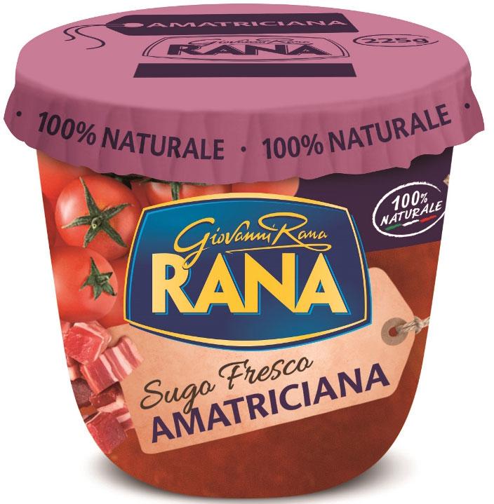Rana Соус томатный Аматричана с добавлением бекона, 225 г ооо шеф маркет томатный тарт с фетой и тархуном