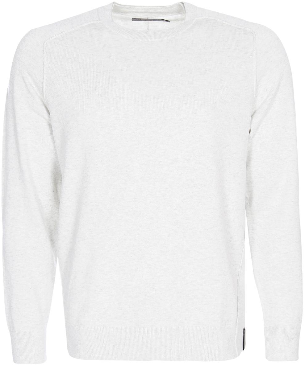Джемпер мужской Calvin Klein Jeans, цвет: светло-серый меланж. J30J306946_1720. Размер XXL (52/54) шорты женские calvin klein jeans цвет светло голубой j20j204963 размер 26 38 40