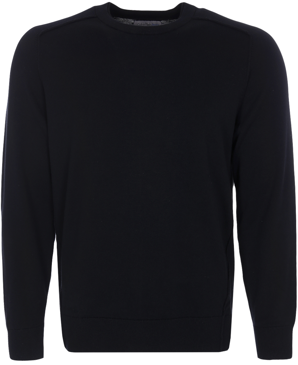 Джемпер мужской Calvin Klein Jeans, цвет: черный. J30J306946_0990. Размер L (48/50) джемпер мужской calvin klein jeans цвет черный j30j306946 0990 размер xxl 52 54