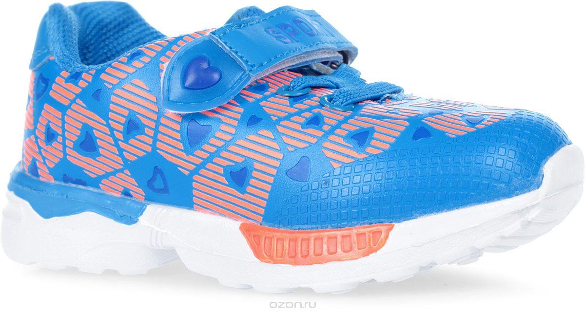 Кроссовки для девочки Мифер, цвет: синий. 7705D. Размер 25