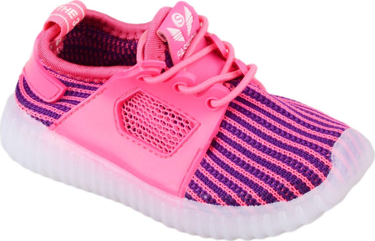 Кроссовки для девочки Мифер, цвет: малиновый. 7710F. Размер 22 - Обувь