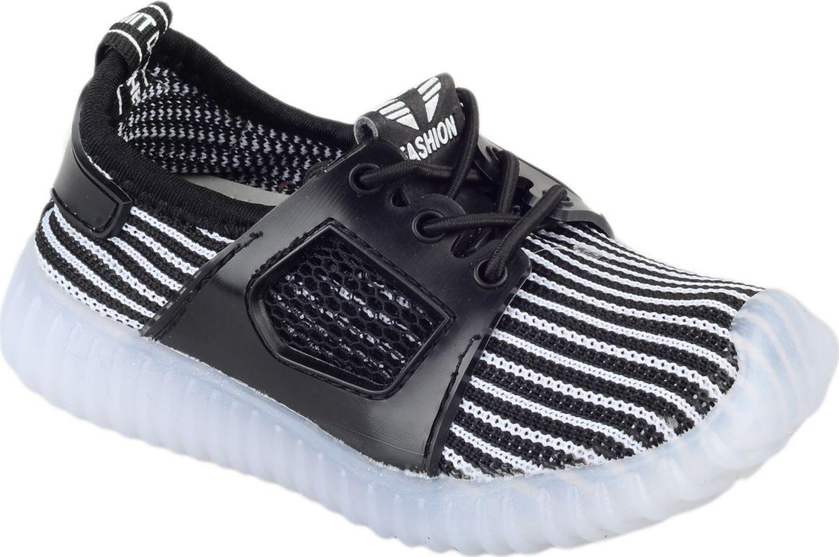 Кроссовки для мальчика Мифер, цвет: черный. 7710F. Размер 25