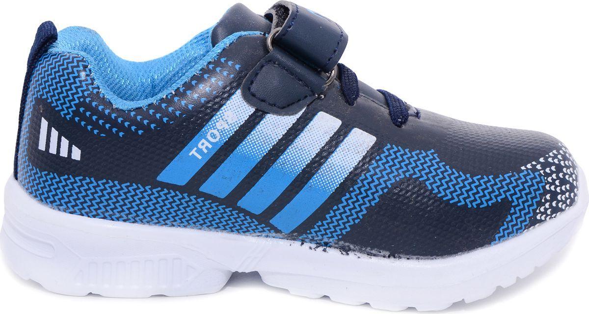Кроссовки для мальчика Мифер, цвет: синий. 5231K. Размер 285231KДетские кроссовки Мифер выполнены из качественной искусственной кожи и декорированы оригинальным принтом. Ремешок с липучкой обеспечит оптимальную посадку модели на ноге. Мягкая стелька придаст максимальный комфорт при движении. Подошва оснащена рифлением для лучшего сцепления с различными поверхностями.