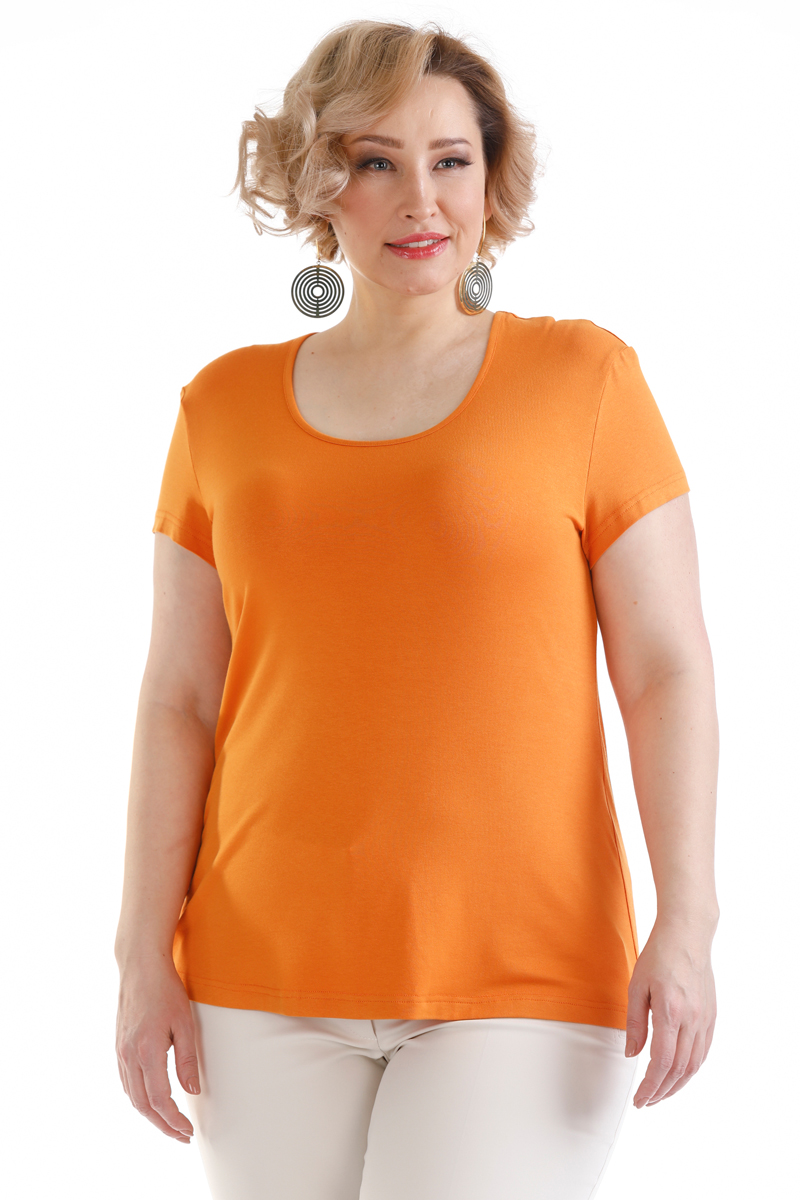 Блузка женская Averi, цвет: оранжевый. 1440. Размер 64 (66) блузка женская averi цвет оранжевый 1440 размер 64 66