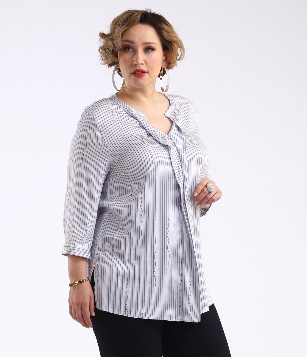 Блузка женская Averi, цвет: светло-розовый. 1432. Размер 64 (66) блузка женская averi цвет коралловый 1440 размер 64 66