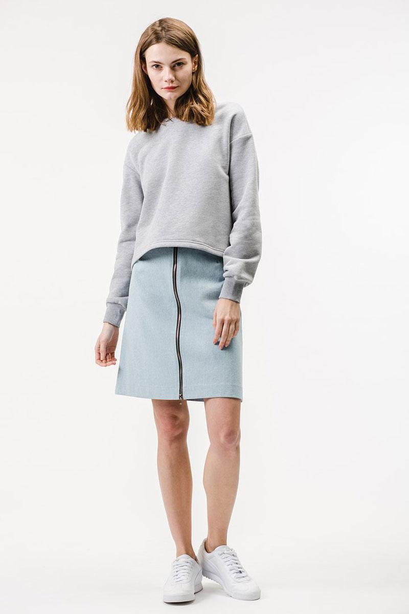 Купить Свитшот женский Eniland, цвет: серый. 15030819. Размер M (44)