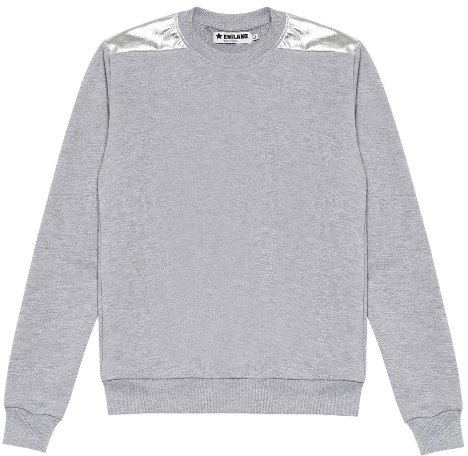 Купить Свитшот женский Eniland, цвет: серый. 31121701. Размер M (44)