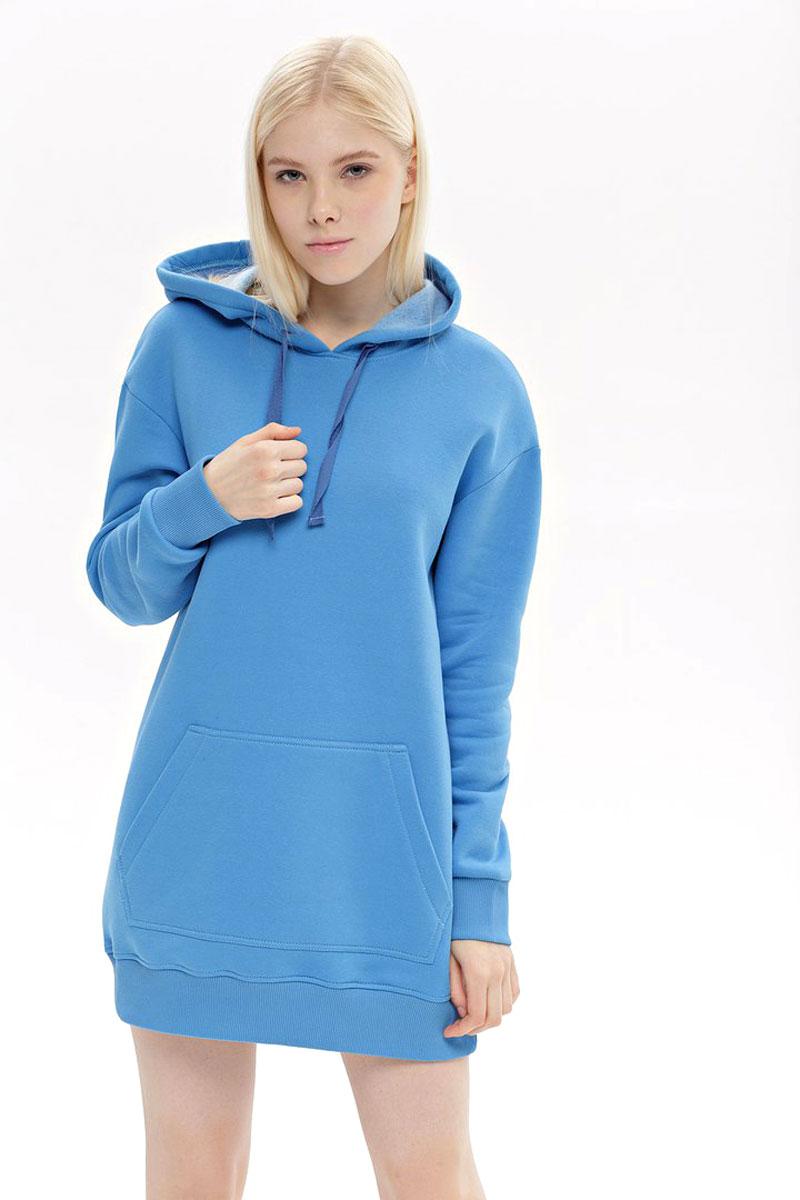 Худи женское Eniland, цвет: голубой. 27011803. Размер L (46)
