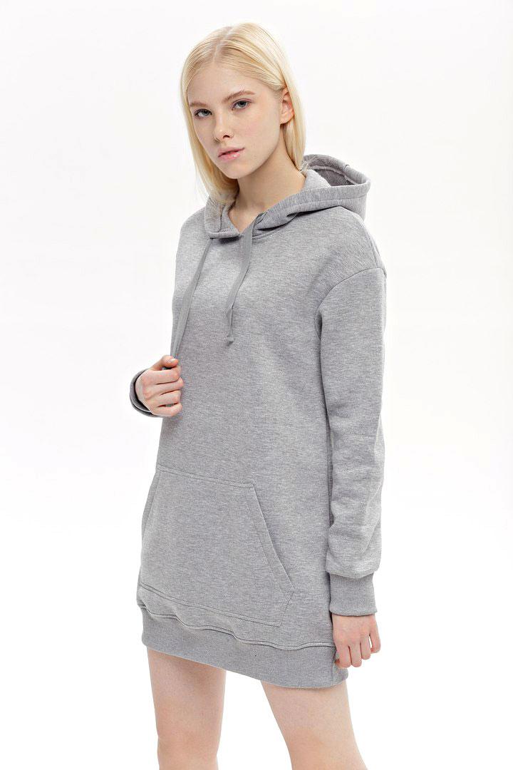 Худи женское Eniland, цвет: серый. 27011814. Размер L (46)