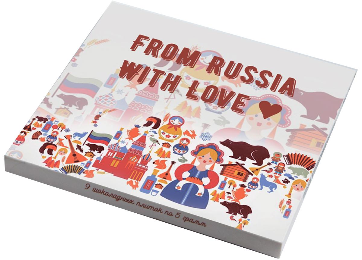 Choko life From Russia with love шоколадный набор, 45 г сувениры