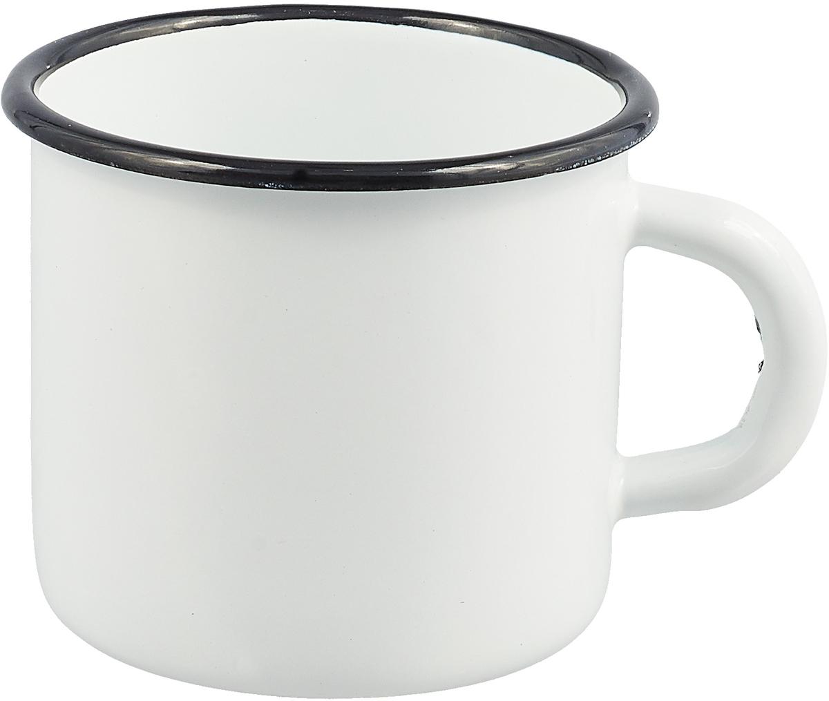 """Кружка эмалированная """"СтальЭмаль"""", цвет: белый, 400 мл"""