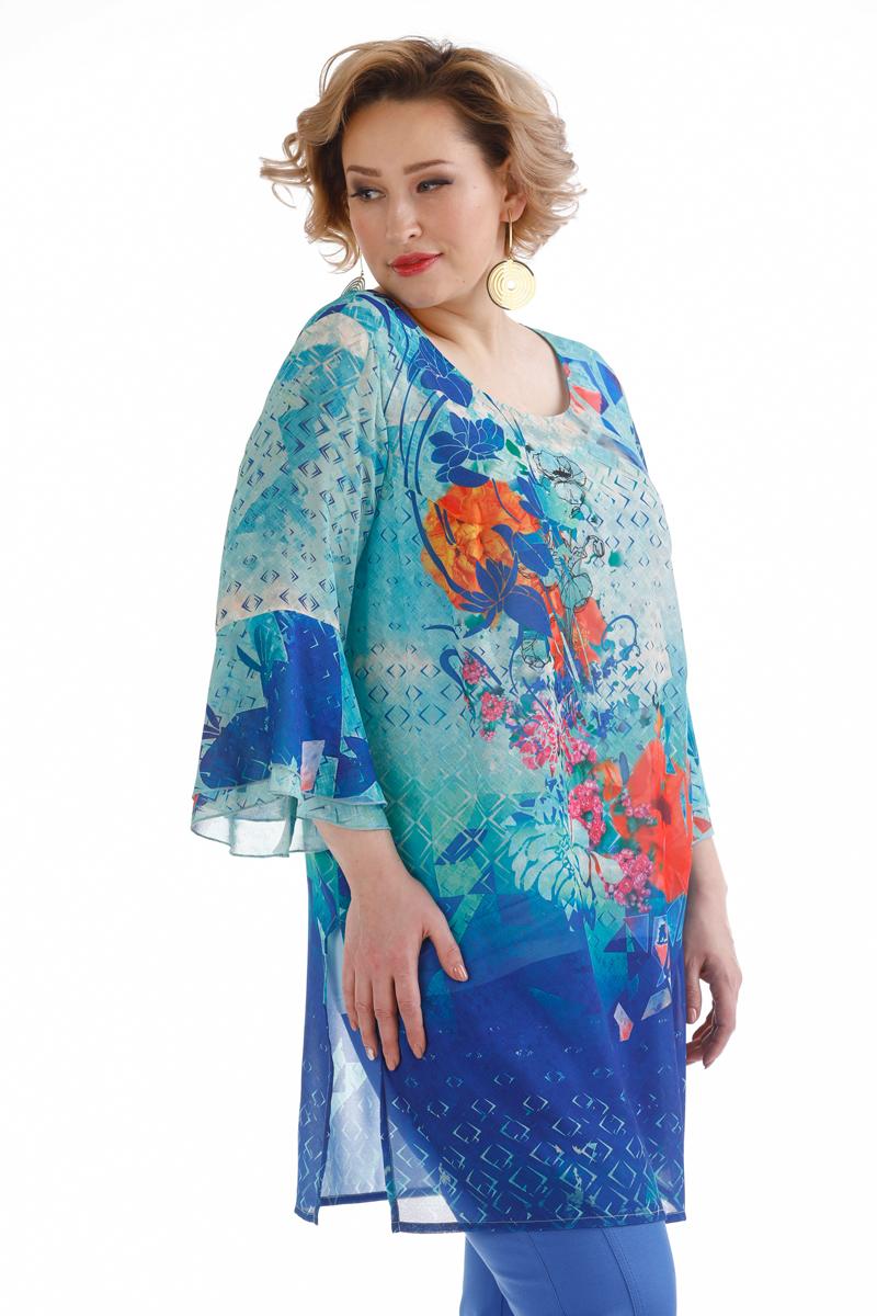 Комплект одежды женский Averi, цвет: разноцветный. 1398. Размер 64 (68) туника averi averi mp002xw13twi
