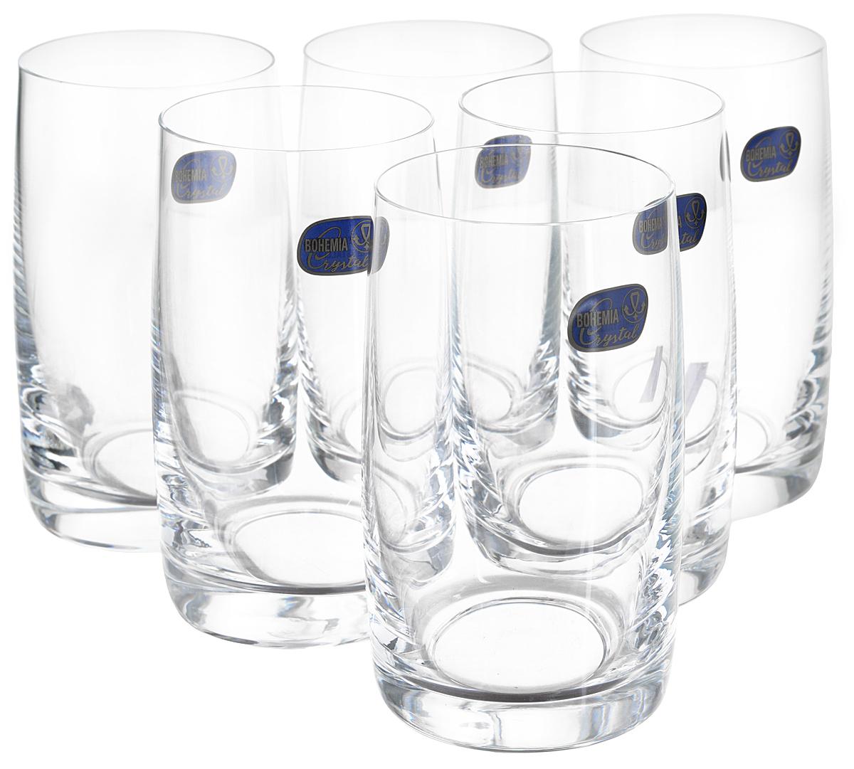Набор стаканов для воды Bohemia Crystall из коллекции Идеал - это красота простых линий и гладкого выдувного стекла. Неизменное богемское качество.