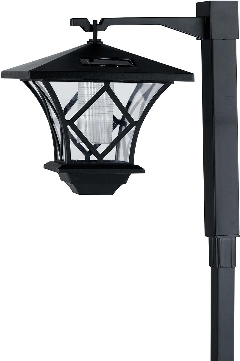 Светильник в виде классического уличного фонаря высотой 1,5 метра, с двумя вариантами крепления светящегося элемента к столбу.Стойка из нескольких частей.2 светодиода и дополнительный рассеиватель обеспечивают отличный уровень яркости.Компактная эргономичная упаковка, несмотря на внушительные размеры в собранном виде.