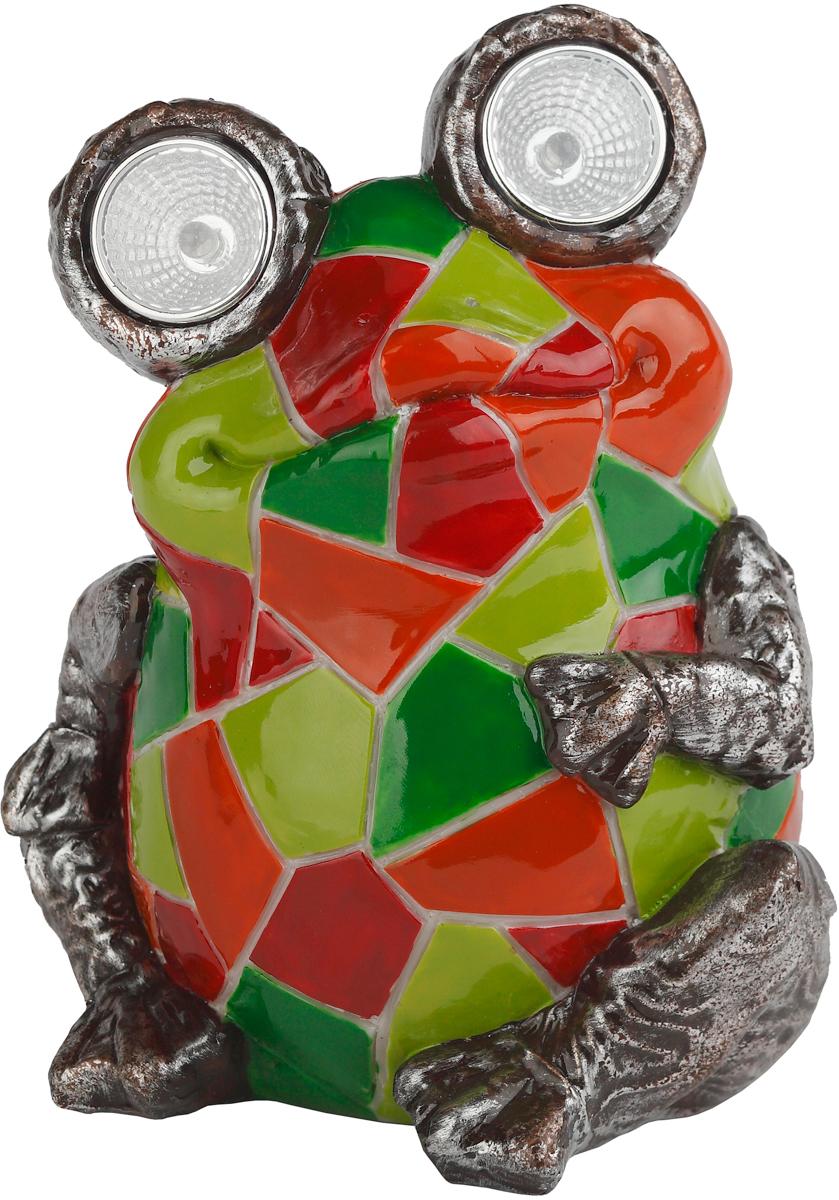 Светильник садовый ЭРА Электротовары Лягушка с мозаикой, на солнечной батарее, 14 смSL-RSN14-WITRКерамический светильник из серии фигур - Лягушка с мозаикой. В дневное время суток служит прекрасным украшением, оживляет пейзаж. Ночью - декоративной подсветкой кустарника, газона, альпийской горки. Использование рефлектора в конструкции обеспечивает высокую яркость свечения. Белый светодиод.