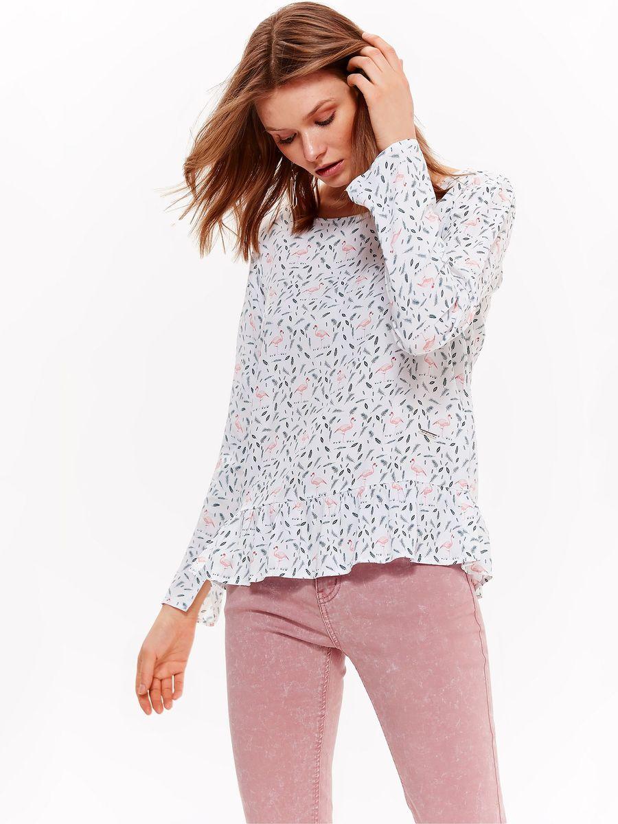 Блузка женская Top Secret, цвет: белый. SBD0824BI. Размер 40 (48) блузка quelle top secret 1033699