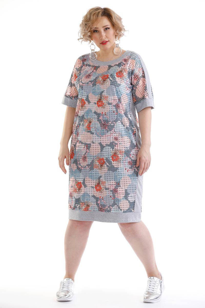 Платье Averi, цвет: светло-серый. 1449. Размер 64 (66)