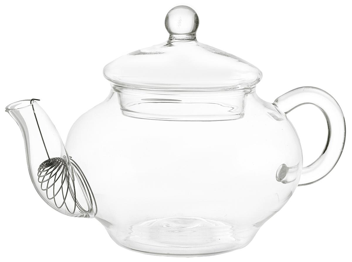 """Заварочный чайник Hunan Provincial """"Ирга"""" изготовлен из стекла. Пить чай из такого чайника сплошное удовольствие! Полностью прозрачная форма позволяет любоваться цветом своего любимого напитка. Устойчивая основа, широкий носик, удобная ручка - все выполнено идеально для достижения полного комфорта в использовании.  Диаметр чайника (по верхнему краю): 5,5 см.  Высота чайника (без учета крышки): 6 см.  Высота чайника (с учетом крышки): 10 см."""