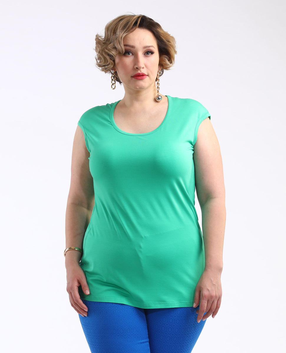 Топ женский Averi, цвет: зеленый. 1431. Размер 64 (66) топ женский averi цвет синий 1335 025 размер 60 64
