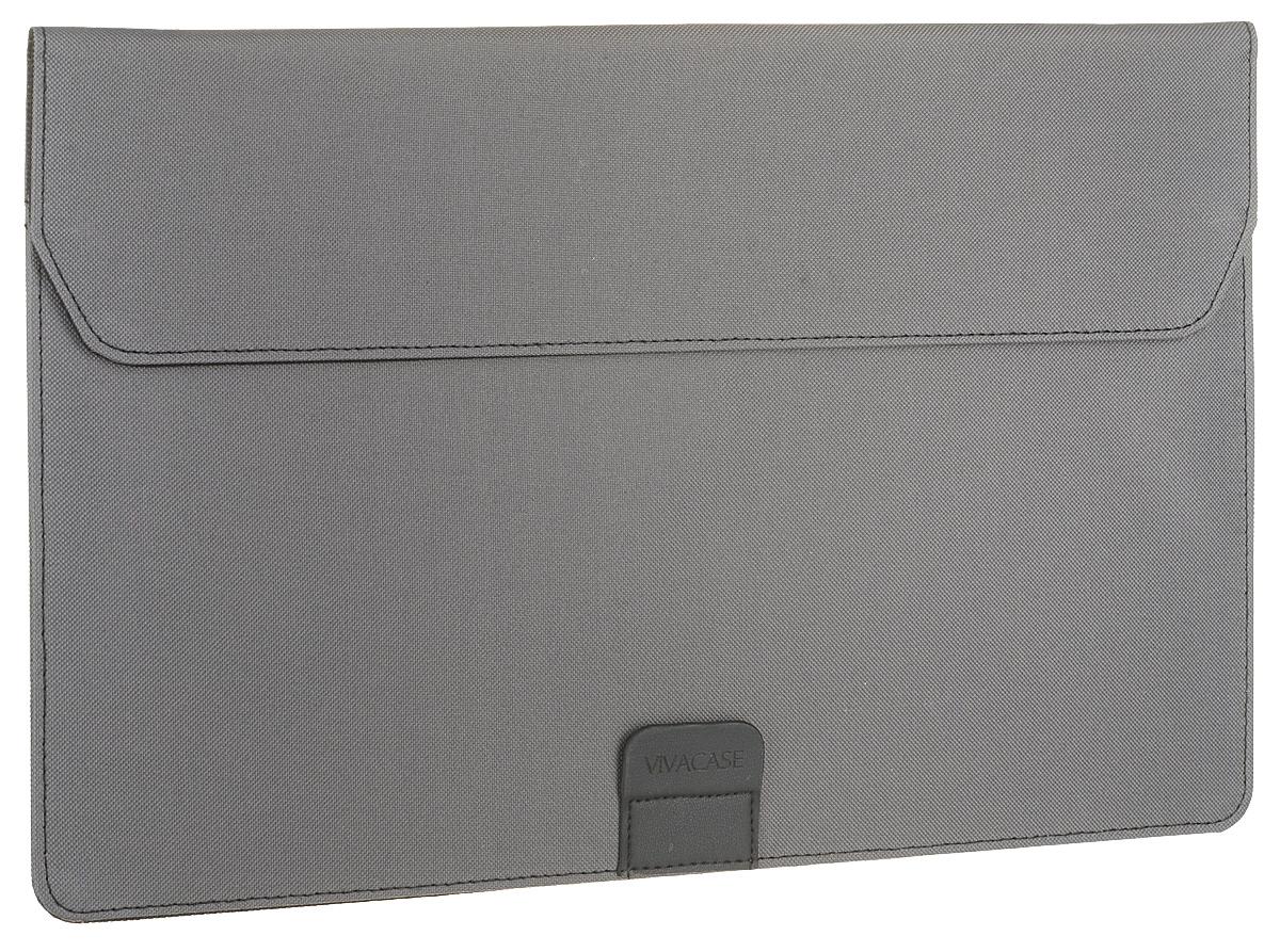 Vivacase Business, Grey чехол для MacBook Air 15-16VCN-FBS160-grПапка Vivacase Business выгодно подчеркнет стильный дизайн вашего MacBook Air. Легкая и изящная, она не утяжеляет и не утолщает ноутбук. Ее удобно носить с собой на работу и брать в командировки. Папка является действительно прочной за счет помещенного в ее основание специального противоударного материала, защищающая ноутбук от влаги, царапин и пыли.Материал Oxford, из которого сделана внешняя часть папки для ноутбука, известен своей долговечностью. Благодаря особой пропитке ПВХ чехол не пропускает воду, не притягивает грязь и не выцветает на солнце. Папку можно свернуть в поставку для ноутбука, с которой удобно работать. В таком виде папка обеспечивает доступ кислорода к включенному макбуку, защищая его от перегревания.