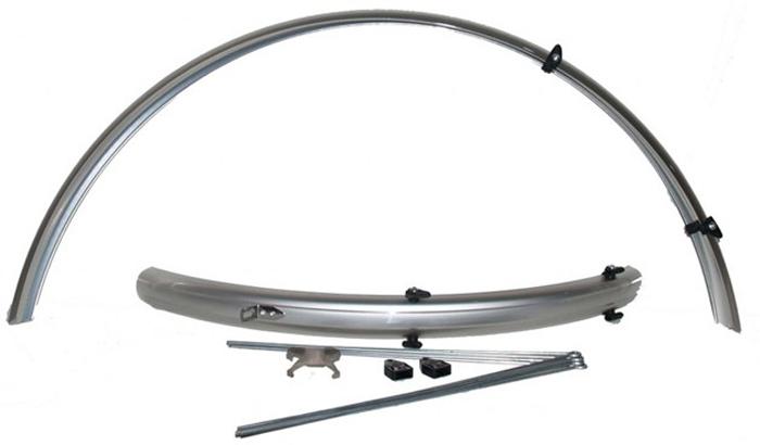 Комплект крыльев SKS PET-Radschutz, 26, цвет: серый, полноразмерные sks a51