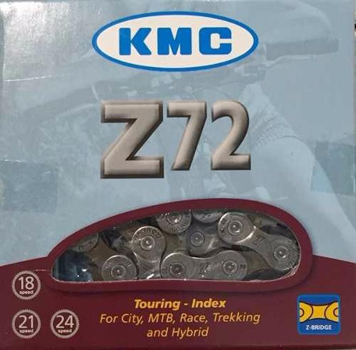 Цепь велосипедная KMC-Z72 7 ск, 118 звеньев велосипедная цепь кмс z72 8 скоростей 1 2x3 32х114 звеньев высокопрочные пины z72