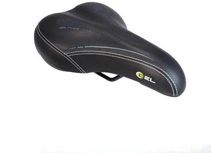 Седло велосипедное DDK 2343G Фитнес, цвет: черный