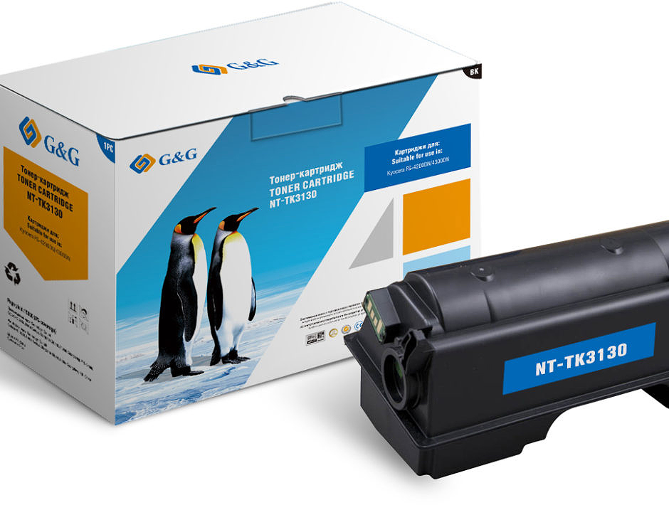 G&G NT-TK3130, Black тонер-картридж для Kyocera FS-4200DN/4300DN