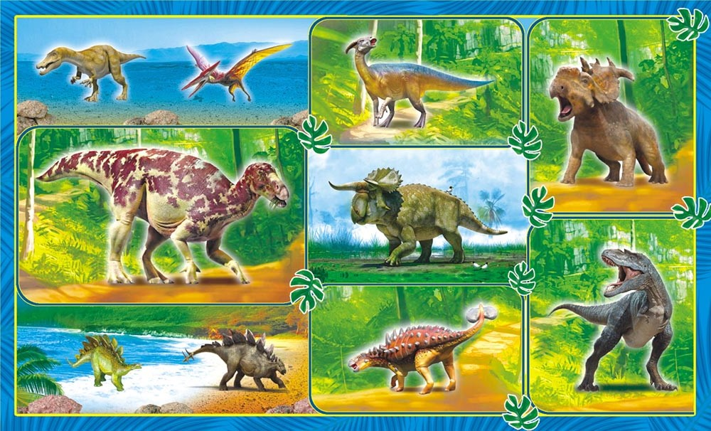 ЛиС Наклейки Динозавры НГ-1503 динозавры наклейки